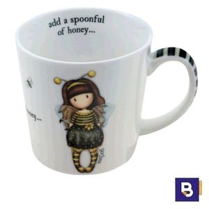 TAZA GORJUSS BEE LOVED JUST BEE CAUSE SANTORO LONDON 82.034.62572.0 ADD A SPOONFUL OF HONEY 933GJ03