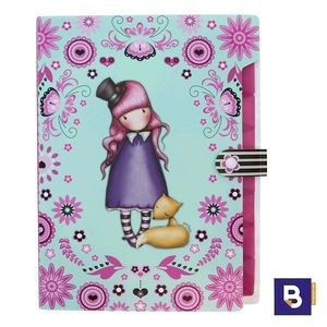 CARPETA CLASIFICADORA ARCHIVADOR ACORDEON GORJUSS FIESTA THE DREAMER SANTORO LONDON 936GJ01