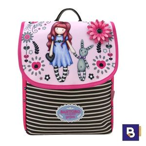 MINI MOCHILA PEQUEÑA CON SOLAPA GORJUSS FIESTA MY GIFT TO YOU SANTORO LONDON 653GJ05