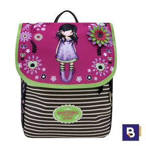 MINI MOCHILA PEQUEÑA CON SOLAPA GORJUSS FIESTA YOU BROUGHT ME LOVE SANTORO LONDON 653GJ06
