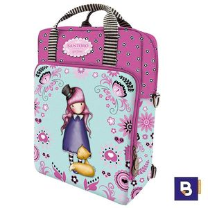 BOLSO MOCHILA CON ASAS GORJUSS FIESTA THE DREAMER SANTORO LONDON 796GJ04