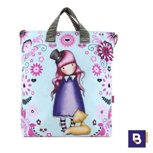 BOLSO CON ASAS Y BANDOLERA GORJUSS FIESTA THE DREAMER SANTORO LONDON 924GJ02