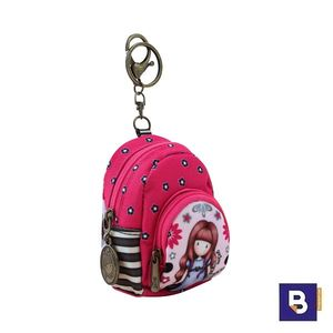 MONEDERO LLAVERO CON FORMA DE MOCHILA GORJUSS FIESTA MY GIFT TO YOU SANTORO LONDON 929GJ01