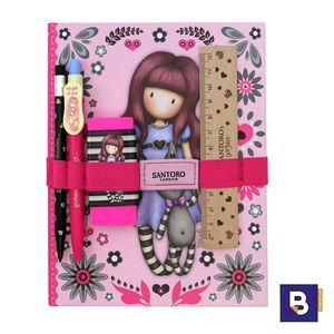 SET REGALO ESCRITURA CON CUADERNO GORJUSS FIESTA MY GIFT TO YOU SANTORO LONDON 602GJ07