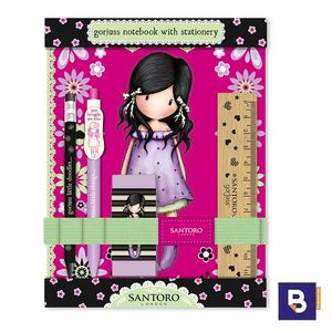SET REGALO ESCRITURA CON CUADERNO GORJUSS FIESTA YOU BROUGHT ME LOVE SANTORO LONDON 602GJ08