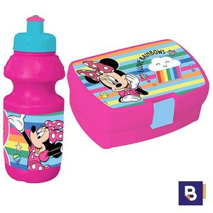 SET REGALO CANTIMPLORA Y SANDWICHERA MINNIE 0562246 BOTELLITA FIAMBRERA PORTAMERIENDAS DISNEY