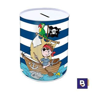 HUCHA DE METAL MUST BARCO PIRATA RAYAS EXPLORING NEW HORIZONS 579634