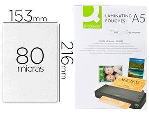 FUNDA DE PLASTIFICAR A5 153 X 216 MM 80 MC C/100 UDS