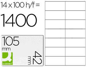 ETIQUETA ADHESIVA MULTIFUNCION 105X42 MM C/100 HOJAS