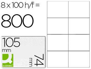 ETIQUETA ADHESIVA MULTIFUNCION 105X74 MM CAJA CON 100 HOJAS KF10659