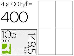 ETIQUETA ADHESIVA MULTIFUNCION 105X148,5 MM CAJA CON 100 HOJAS KF10660