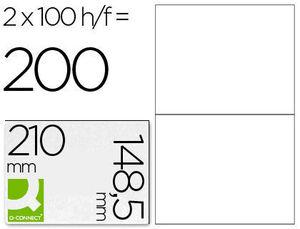 ETIQUETA ADHESIVA MULTIFUNCION 210X148,5 MM CAJA CON 100 HOJAS KF10662