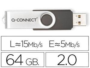 MEMORIA USB 2,0 64 GB Q-CONNECT (CANON LPI 0,24 € INCLUIDO)
