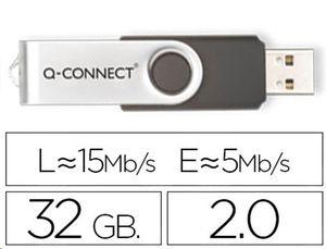 PEN DRIVE USB 2,0 32 GB Q-CONNECT (CANON 0,24 € LPI INCLUIDO)