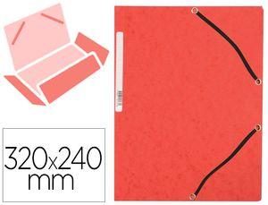 CARPETA A4+ GOMAS CARTON SIMIL-PRESPAN RED SOLAPAS