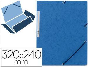 CARPETA A4+ GOMAS CARTON SIMIL-PRESPAN BLUE SOLAPAS