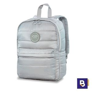 MOCHILA PEQUEÑA COOLPACK CASUAL ABBY ACOLCHADA GREY MIST GRIS CLARO 22875CP