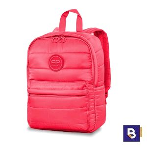 MOCHILA PEQUEÑA COOLPACK CASUAL ABBY ACOLCHADA CORAL TOUCH ROSA NEON 23391CP