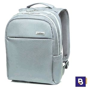 MOCHILA COOLPACK BUSINESS FORCE LIGHT GREY GRIS CLARO A42107