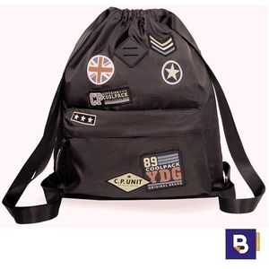 SACO MOCHILA COOLPACK URBAN BADGES BLACK B73055 PARCHES NEGRO