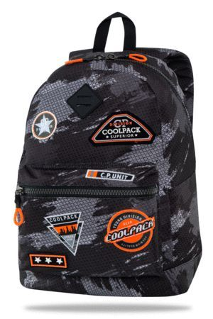 MOCHILA ESCOLAR COOLPACK CROSS 25L BADGES G PARCHES POWER BLACK B26152