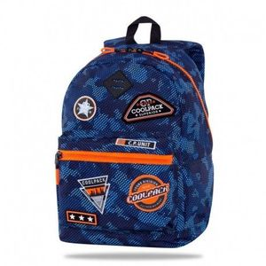 MOCHILA ESCOLAR COOLPACK CROSS 25L BADGES B PARCHES POWER NAVY B266153