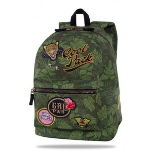 MOCHILA ESCOLAR COOLPACK CROSS 25L BADGES G PARCHES POWER GREEN B26157