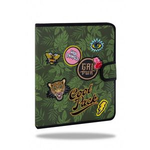 CARPETA DE TELA COOLPACK PARCHES MATE BAGDES G POWER GREEN B80157