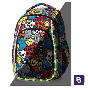MOCHILA MEDIANA 38 CM. CON LEDS COOLPACK STRIKE S CARTOON 19L LED PACK A18200