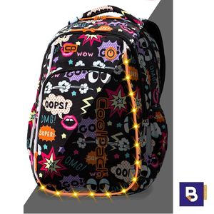 MOCHILA MEDIANA 38 CM. CON LEDS COOLPACK STRIKE S COMICS 19L LED PACK A18202