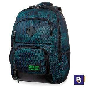 MOCHILA TRIPLE COOLPACK UNIT ARMY XL OCEAN GREEN B32073 NEGRO VERDE