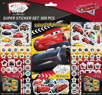 SUPER SET 500 PEGATINAS CARS (2ªED)