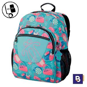 MOCHILA TOTTO MORRAL ACUARELES ADAPTABLE A CARRO SNEAKY MA04ECO021 1910N 0D6 AZUL TROPICAL