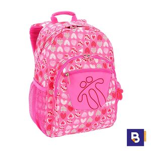 MOCHILA TOTTO ADAPTABLE A CARRO MORRAL ACUARELES MA04ECO021-1710N  1I3 ROSA