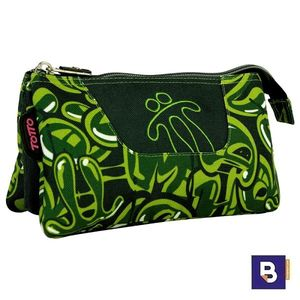 PORTATODO TRIPLE ESTUCHE TOTTO MULTIUSO TABLERO AC52ECO012 1820Z 9VB VERDE