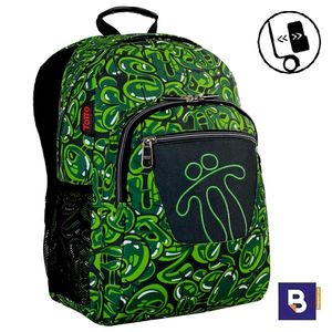MOCHILA TOTTO MORRAL ACUARELES ADAPTABLE A CARRO MA04ECO021 1820N 9VB VERDE