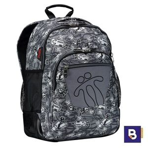 MOCHILA DOBLE TOTTO MORRAL CRAYOLES MA04ECO029 1820N 8GO GRIS SPRAY