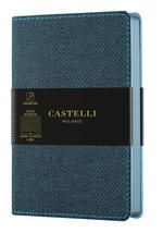 CUADERNO NOTEBOOK CASTELLI MILANO 9X14 COLLECTION HARRIS HORIZONTAL