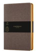 CUADERNO NOTEBOOK CASTELLI MILANO 13X21 COLLECTION HARRIS HORIZONTAL