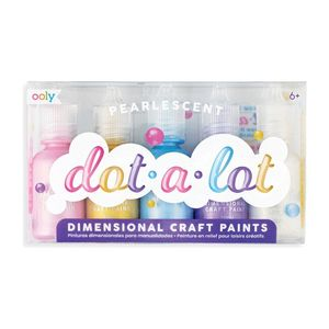PINTURAS DIMENSIONALES OOLY PEARLESCENT DOT A LOT 5 UNIDADES