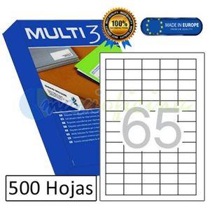 ETIQUETAS ADHESIVAS MULTI 3 TAMAÑO 38X21,2 MM REF 10509