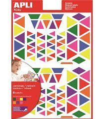 GOMETS APLI TRIANGULOS MULTICOLOR 7 COLORES REF 13239
