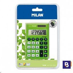 CALCULADORA BOLSILLO 8 DIGITOS MILAN POCKET VERDE 150908GBL