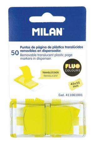 PUNTOS DE PAGINA DE PLASTICO TRASLUCIDOS MILAN AMARILLO 4110611001