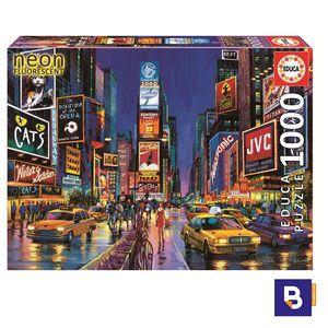 PUZZLE EDUCA BORRAS 1000 PIEZAS TIMES SQUARE NEW YORK NEON BRILLA EN LA OSCURIDAD 13047