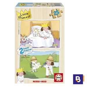 PUZZLE EDUCA MADERA 2 X 25 PIEZAS LITTLE PRINCESS 14363