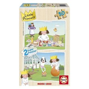 PUZZLE MADERA EDUCA 2 X 50 PIEZAS LITTLE PRINCESS 14364