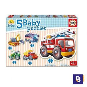 PUZZLE EDUCA BORRAS BABY PUZZLES 5 VEHICULOS 14866