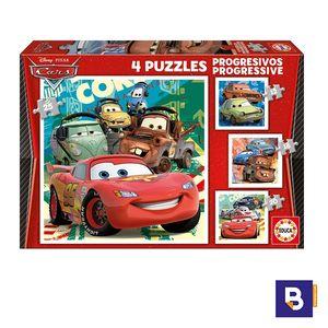PUZZLE EDUCA BORRAS PUZZLES PROGRESIVOS 12 + 16 + 20 + 25 PIEZAS CARS 14942