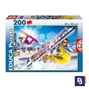 PUZZLE EDUCA BORRAS 200 PIEZAS SNOWBOARD 15268